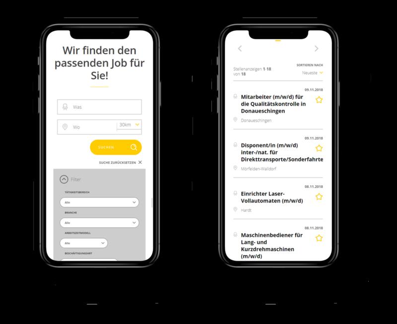 inmedio-personal-mockup-iphonex-tuttlingen-contradigital-webdesign-jobsuche-funktion